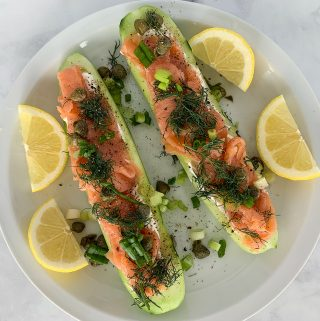 Cucumber Boats with Smoked Salmon Recipe