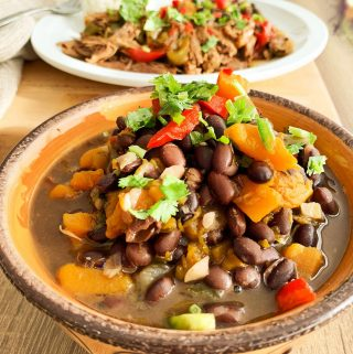 Black Beans with Calabaza Squash
