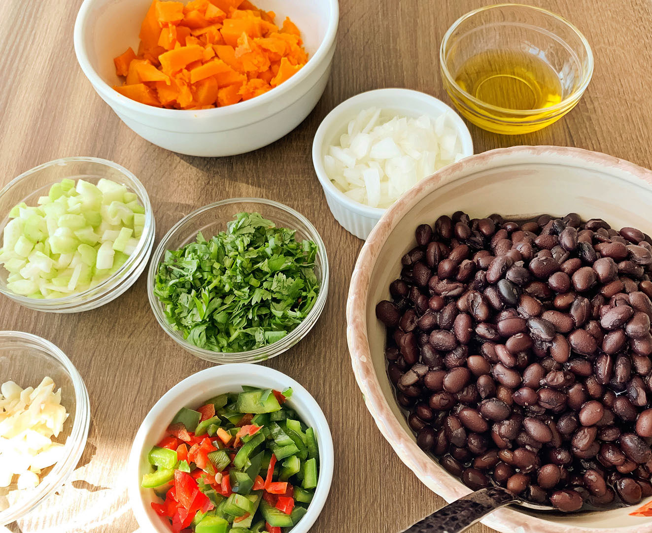 Black Beans with Calabaza