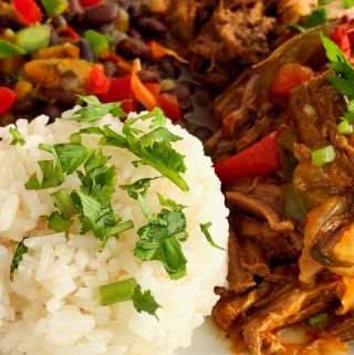 Ropa Vieja with Rice and Beans