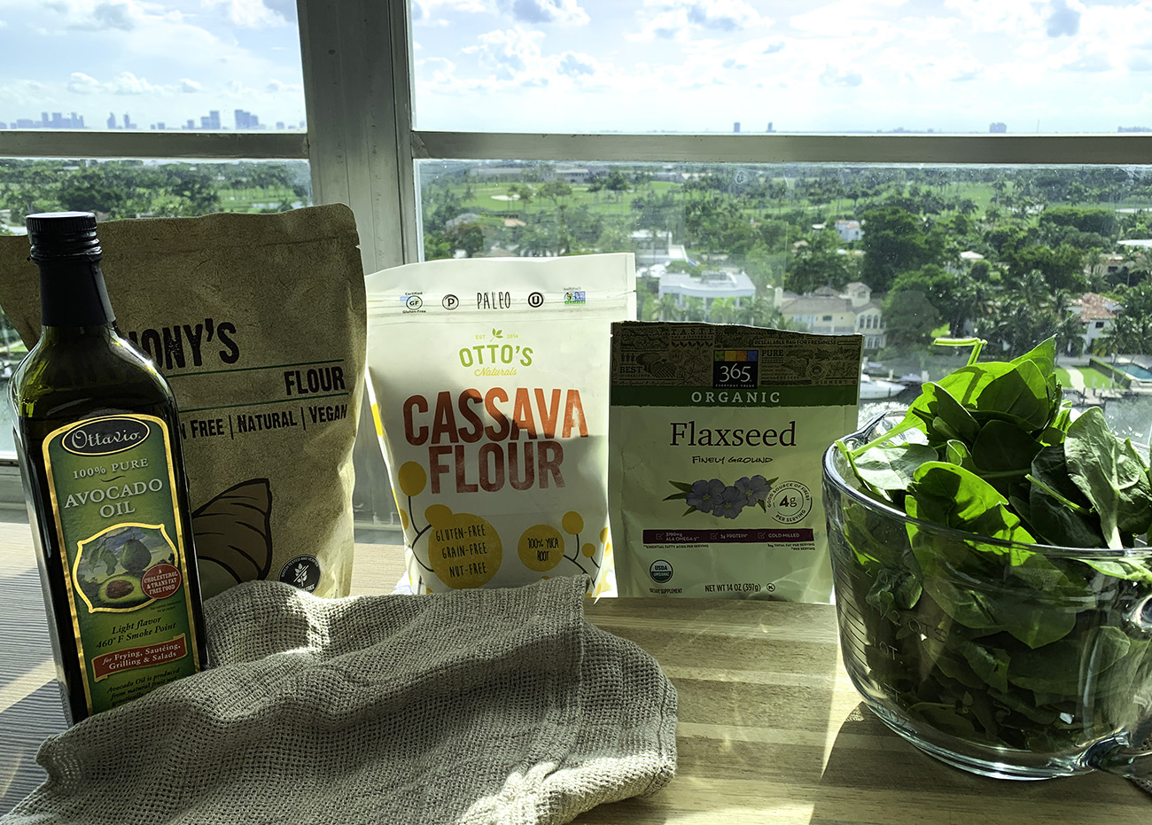 Ingredients for Spinach Cassava Tortillas