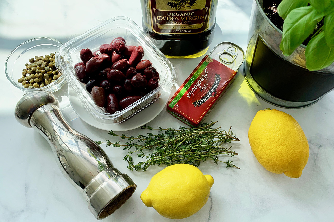 Ingredients for Tapenade