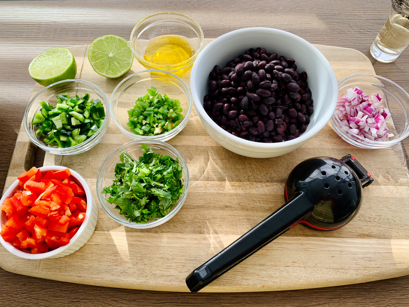 INGREDIENTS BLACK BEAN SALAD FOR TACOS