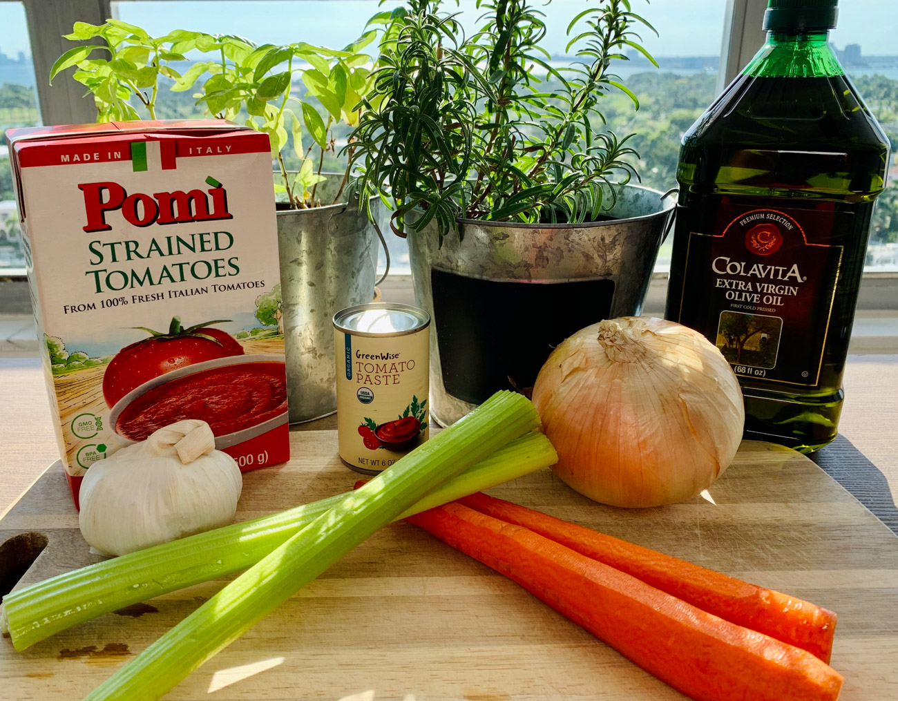INGREDIENTS FOR TOMATO SAUCE FROM SCRATCH
