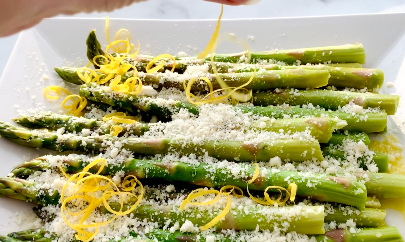 Asparagus With Lemon Parmesan Absolutely Flavorful