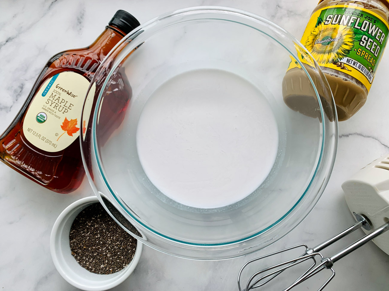 Chia Sunbutter Pudding Ingredients