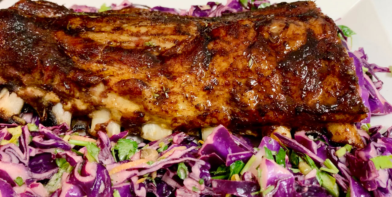 BABY BACK RIBS WITH BALSAMIC GLAZE