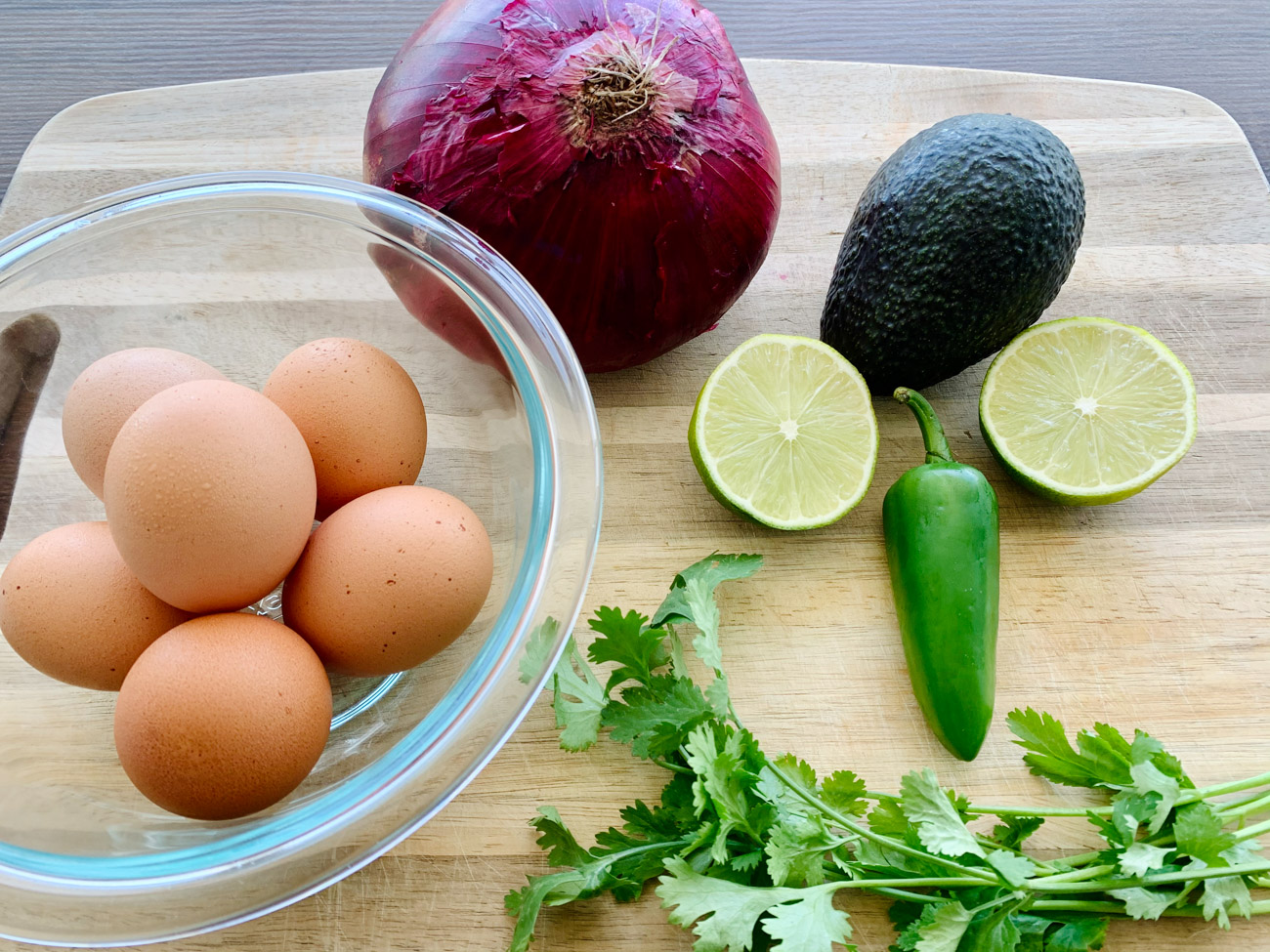 Ingredients for Deviled Eggs with Avocado