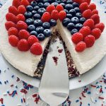 Coconut Lime Cheesecake with fresh berries