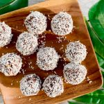 Maca Balls on a wooden tray